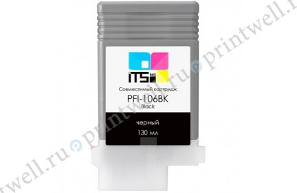Картридж ITS PFI-106BK Black