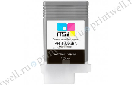 Картридж ITS PFI-107MBK
