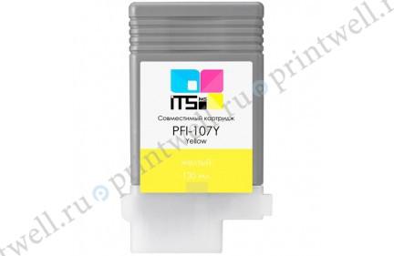 Картридж ITS PFI-107Y 6708B001